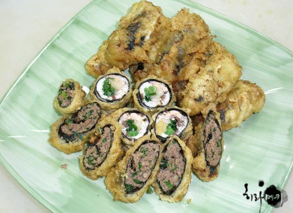 소고기 김말이, 생선김말이