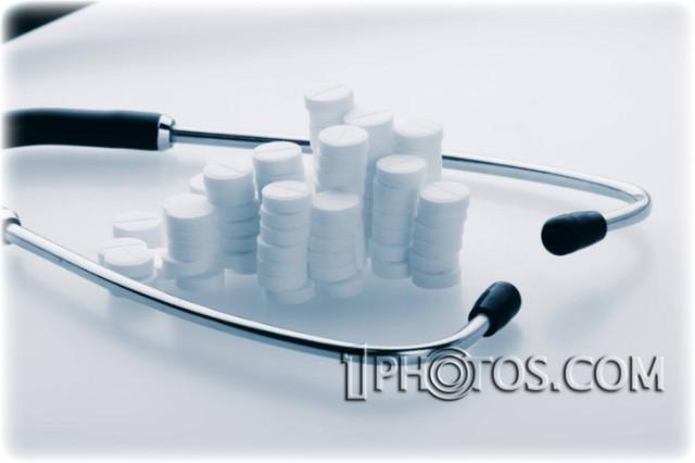 청진기 와 약