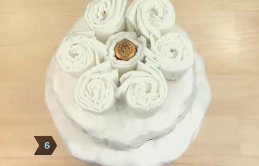 기저귀 케이크 3단